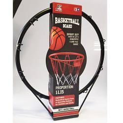 Баскетбольне кільце, сітка, м'яч, насос, кріплення, MR0169