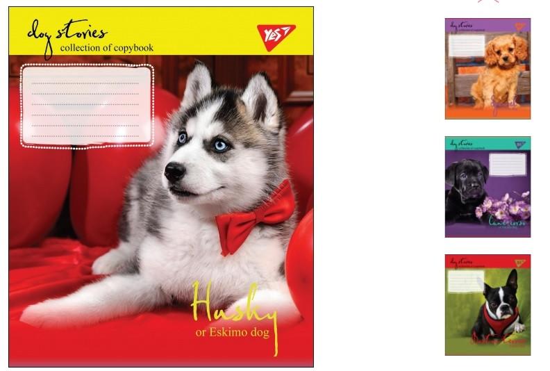 Тетрадь ученическая А5/18 линия YES DOG STORIES, 25шт/упак., 764693