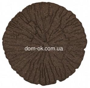 Декор для дорожек для сада, диам.45 см, коричневый, Трещины