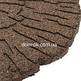 Декор для дорожек для сада, диам.45 см, коричневый, Трещины, фото 3