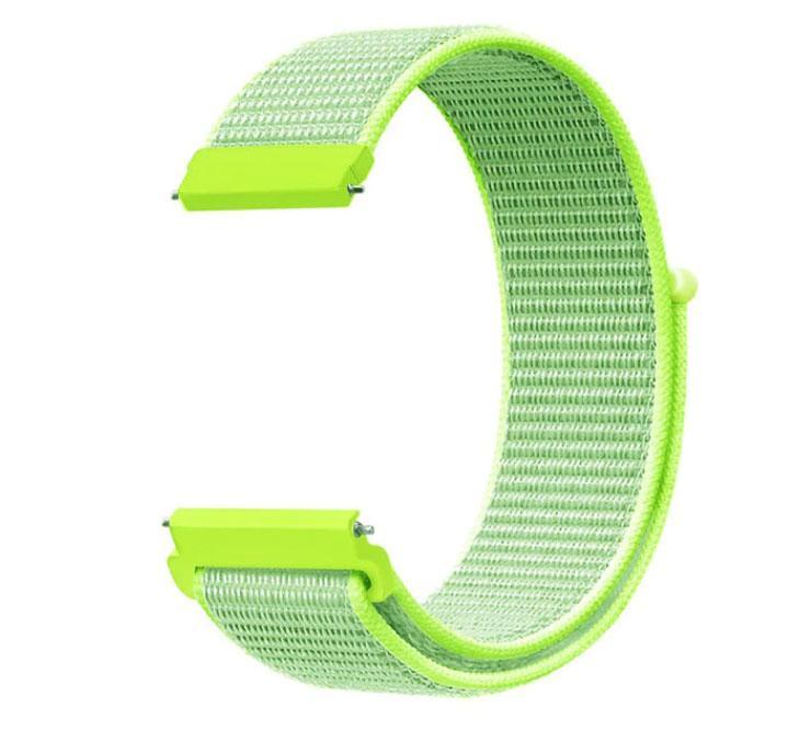 Нейлоновый ремешок Primo для часов Samsung Galaxy Watch 3 41mm (SM-R850) - Lime