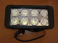 Прямоугольные светодиодные фары дальнего света LED spotlight D1080 - для авто.