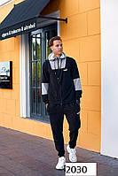 Костюм мужской накат кофта+футболка+штаны стрейч-коттон+двунить 48,50,52,54