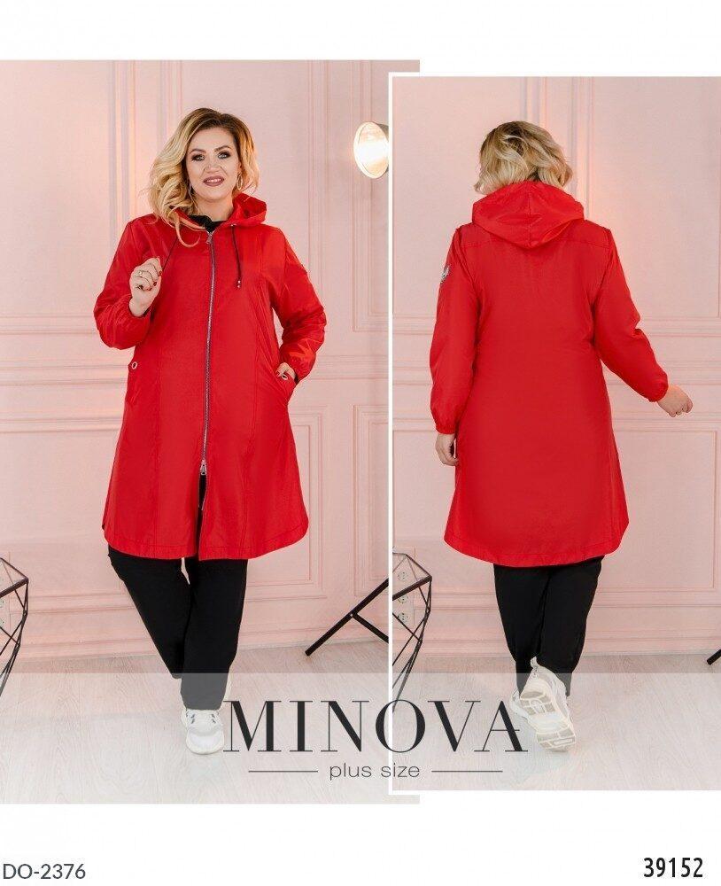 Стильная куртка плащ    (размеры 48-62) 0254-10