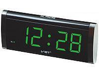 Электронные Часы VST 730 green, цифровые настольные сетевые часы, led alarm clock VST-730