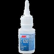 Супер-клей APP C 630 (для резины, пластмассы и EPDM), 20 мл.