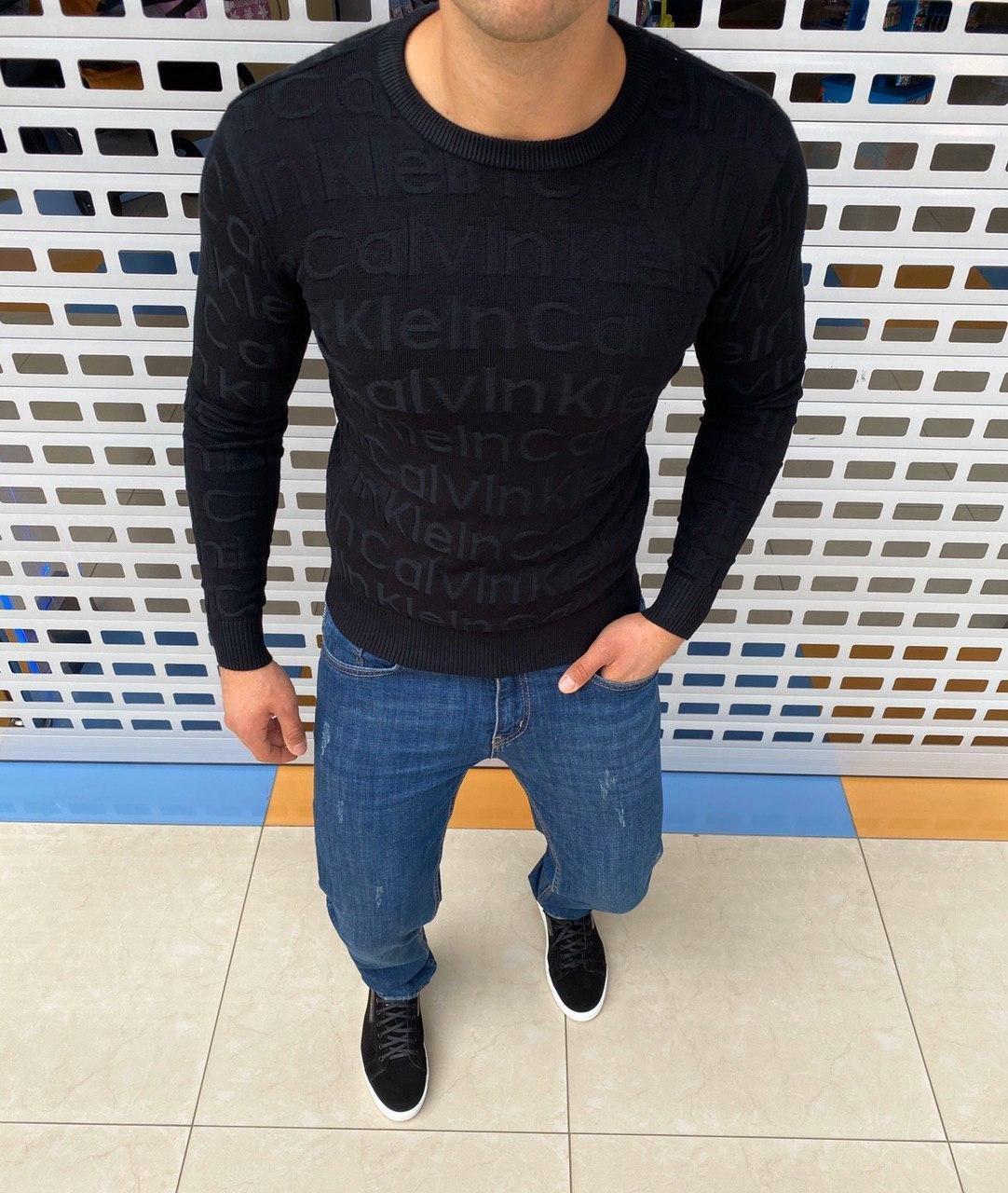 Мужской джемпер Calvin Klein H0876 черный