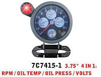 Дополнительный прибор Ket Gauge 7C 7415 тахометр t воды давление масла вольтметр