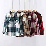 Женская трендовые рубашки в клетку (в расцветках), фото 2