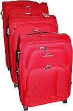 Набор чемоданов 2-колесных 3 шт. Suitcase 913751-red красный