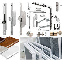 Фурнітура і додаткова комплектація віконно дверних конструкцій