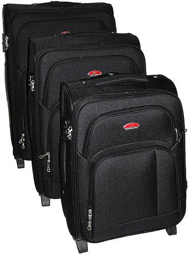 Комплект чемоданов 2-колесных 3 шт. Suitcase 913751-black черный