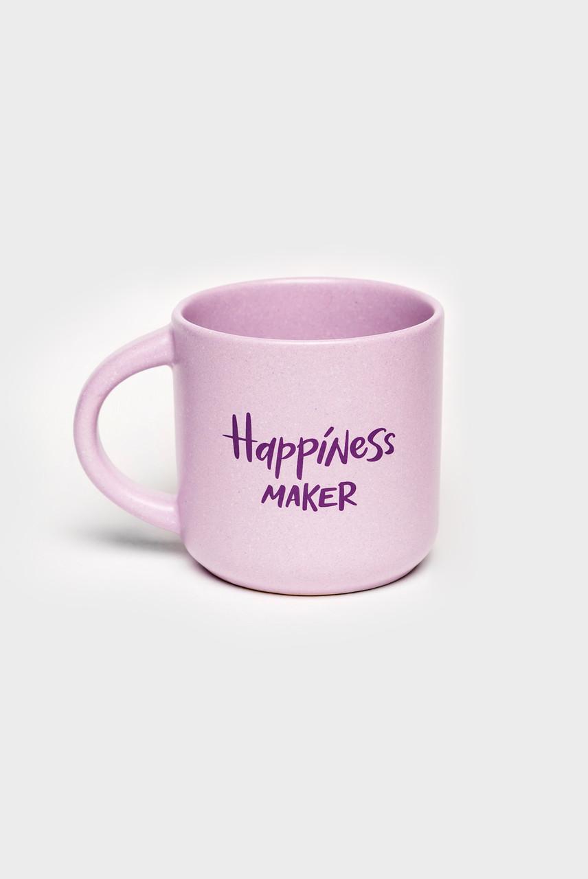 Чашка фіолетова Happiness maker