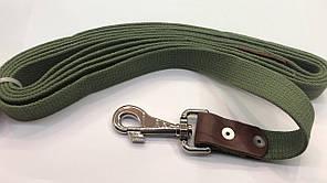 CoLLar поводок для собак крупных пород 3 м /25 мм (брезент+кожа)
