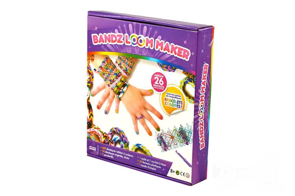 Набор loom bands станок и 600 резинки для плетения браслетов  rainbow шармы крючок