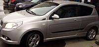 Дефлекторы окон Chevrolet Aveo I Hb 3d 2008-2011 | Ветровики Шевроле Авео