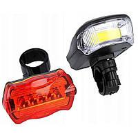 Велосипедный фонарь X-Balog BL-508 (передний и задний) (3606)
