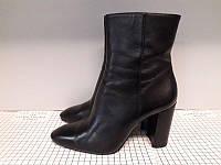 Ботильоны женские Massimo Dutti б/у (Массимо Дути), черные, 38 размер, ботинки осень