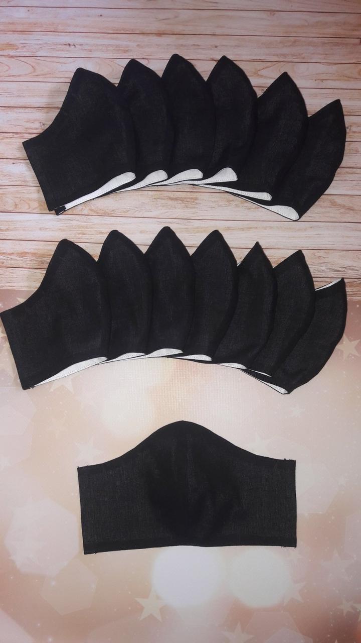 Защитная маска черная многоразовая