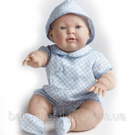 Berenguer, большая кукла младенец мальчик Lucas, в голубой панамке, 46 см.