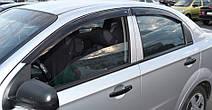 Дефлекторы окон Chevrolet Aveo I Sd 2006-2010   Ветровики Шевроле Авео