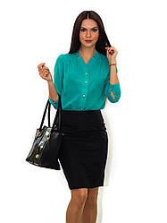 Нарядная женская блуза с длинным рукавом