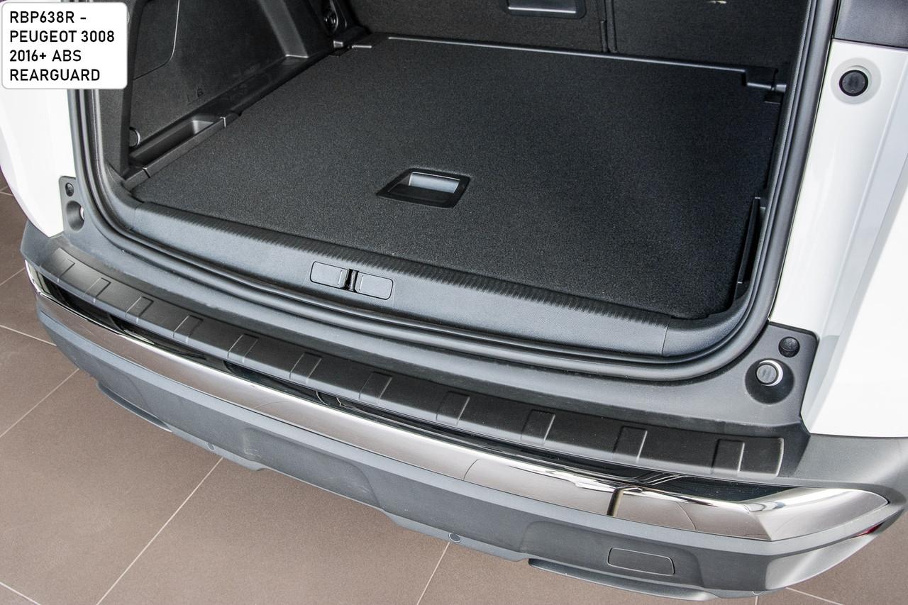 Пластикова захисна накладка на задній бампер для Peugeot 3008 ll 2016+, фото 3