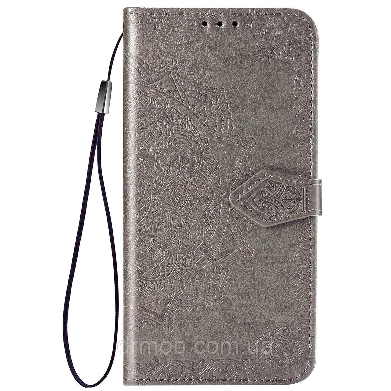 Купить Кожаный чехол (книжка) Art Case с визитницей для Samsung Galaxy M31 Серый, Epik