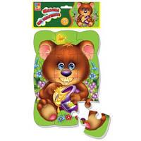 Детские Пазлы на магните Мишка Vladi Toys VT3205-35