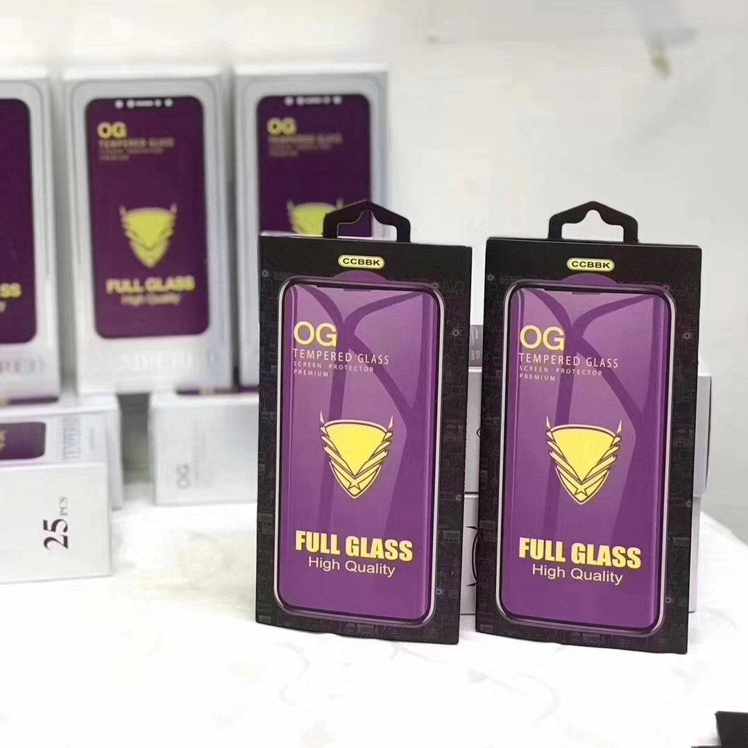 Защитное стекло  Full Glue  OG Premium в упаковке Huawei P 40 Lite  (черн.)