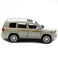 Машинка игровая автопром «Toyota» Тойота джип, металл, 18 см, Белый (свет, звук, двери открываются) 7690, фото 3