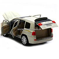 Машинка игровая автопром «Toyota» Тойота джип, металл, 18 см, Белый (свет, звук, двери открываются) 7690, фото 4