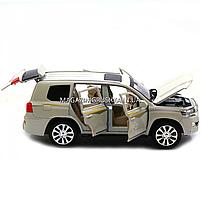 Машинка игровая автопром «Toyota» Тойота джип, металл, 18 см, Белый (свет, звук, двери открываются) 7690, фото 5