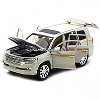 Машинка ігрова автопром «Toyota» Тойота джип, метал, 18 см, Білий (світло, звук, двері відкриваються) 7690, фото 8