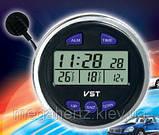 Автомобильные часы вольтметр 7042V в классику, фото 4