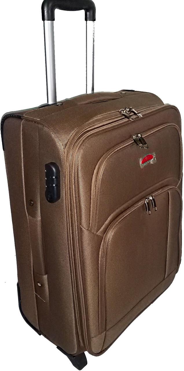 Малый тканевый 2-колесный чемодан 45 л. Suitcase 913753-brown