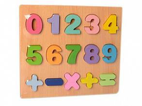 Дерев'яна іграшка Рамка-вкладиш MD 2215 цифри (MD 2215-2)