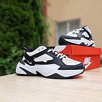 Женские кроссовки в стиле Nike M2K Tekno белые с черным, фото 1