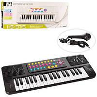Синтезатор детский 37 клавиш, микрофон, фото 1