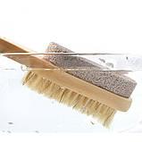 Щетка двусторонняя для сухого массажа ног и пилинга стоп с пемзой, фото 7