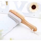 Щетка двусторонняя для сухого массажа ног и пилинга стоп с пемзой, фото 8