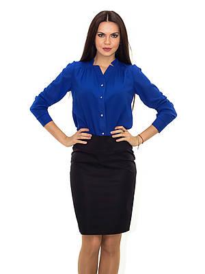 Нарядная шифоновая блуза с длинным рукавом
