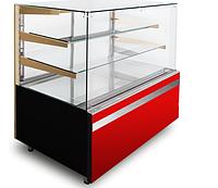 Кондитерская холодильная витрина GASTROLINE CUBE 1310 3 полки (куб стекло)