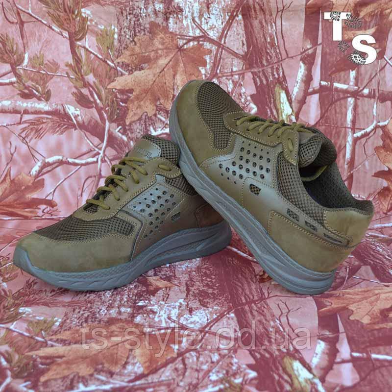 Тактичні кросівки NEWTON нубук койот сітка