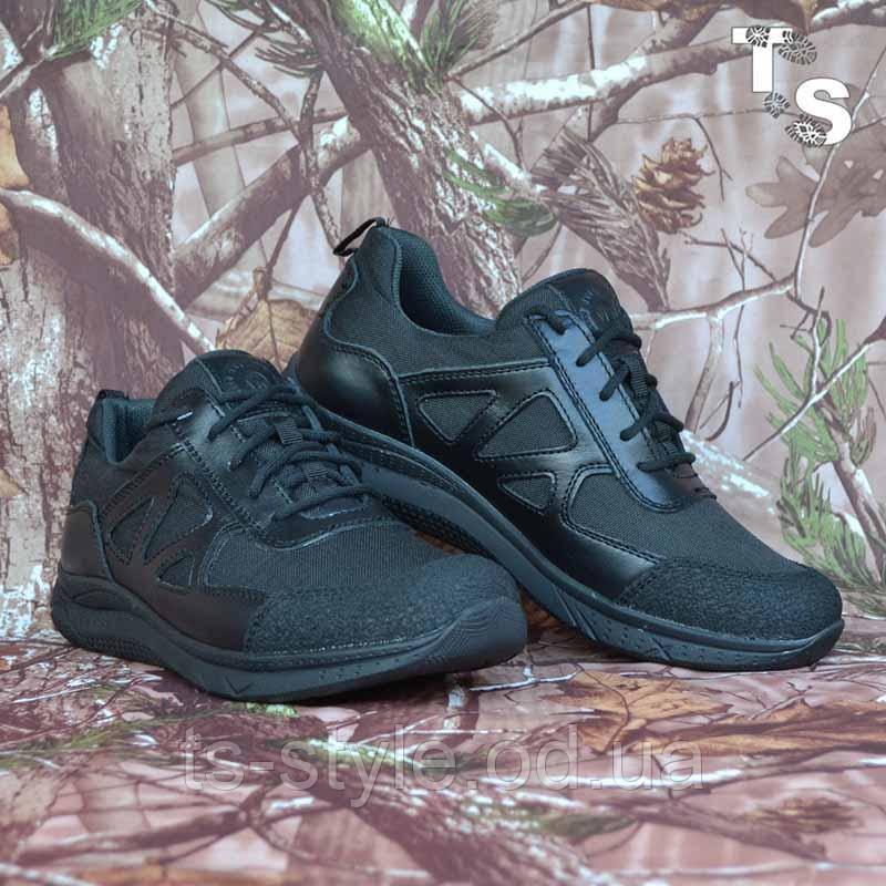 Тактичні кросівки JAGUAR-S гладка шкіра cordura чорні