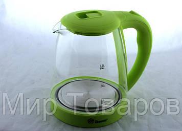 Электрический чайник Domotec MS 8212 салатовый с LED подсветкой