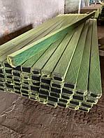 Столб усиленный 80х60 мм 2,0 мм толщина длина 2,5 м