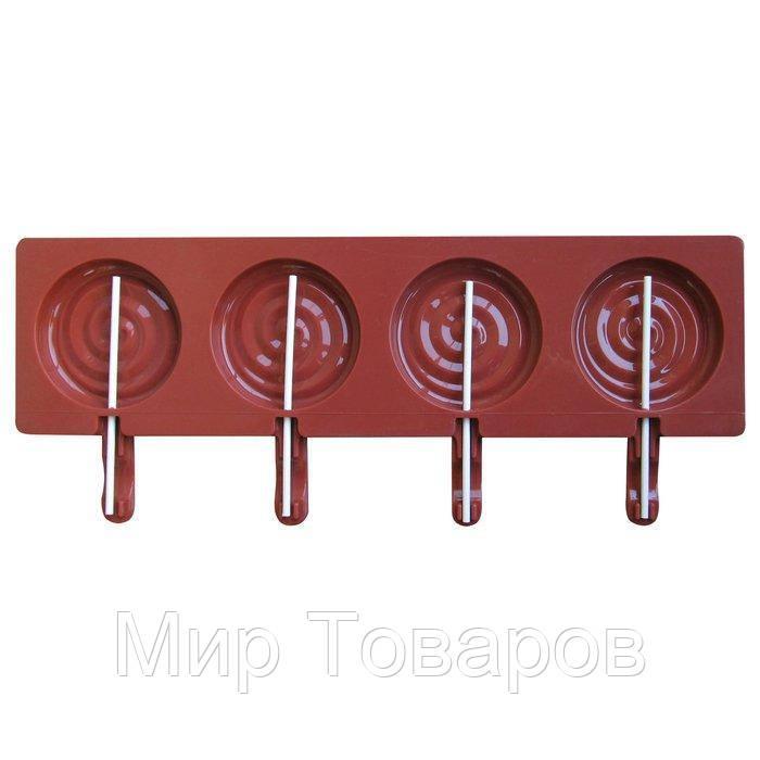 """Форма силиконовая для 4ёх леденцов""""Спираль""""355*140*15 мм (шт)"""