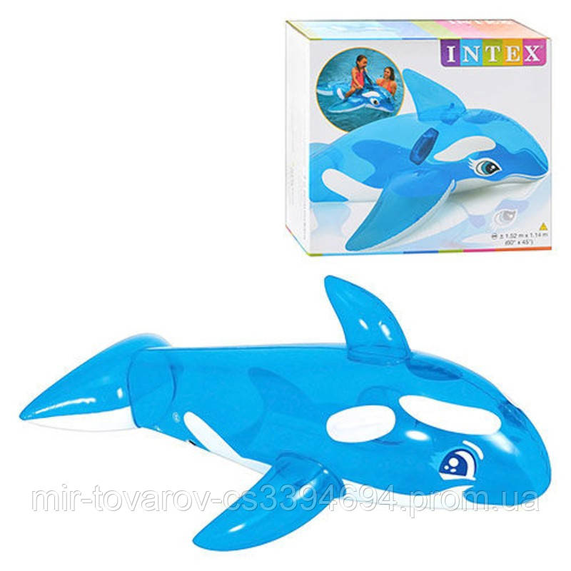Детский надувной плотик Intex 58523 Дельфин 168x86 см