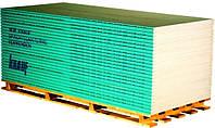 Гипсокартон влагостойкий KNAUF 12,5х1200х3000мм (3,6м2 в листе)